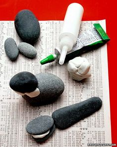 Tips when crafting with rocks. Nature and Craft