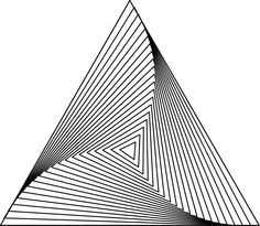 TRI FORM Geometric Drawing, Geometric Shapes, Arte Linear, Triangle Art, Sacred Geometry Art, Creation Art, Zentangle Patterns, Doodle Patterns, Art Graphique