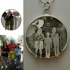 f5f000befd01 Colgante de plata personalizado a partir de una foto.