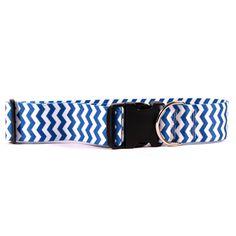 Chevron Blueberry Collar - 2 Inch Wide