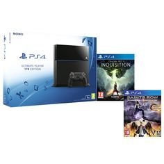 Buy Sony PlayStation 4 - Includes Dragon Age: Inquisition & Saints Row IV Re-elected from Zavvi, the home of pop culture. Take advantage of great prices on Blu-ray, merchandise, games, clothing and more! Saints Row 4, Battlefield Hardline, Fifa 15, Rise Against, Cancer Cure, Dragon Age, Playstation, Xbox