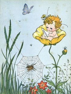 https://flic.kr/p/6LR7Ws | Barbara Mary Campbell (CAM) BUTTERCUP FAIRY 1945 rare! | This is the buttercup fairy, who is very happy and laughs a lot. Every time she laughs, she gets fatter (I swear this happens to me as well :-) She gets an invitation to the Fairy King's party, but is crying because she thinks she won't be able to go...