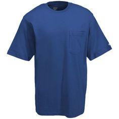Berne Apparel Men's BSM16 RYLBL Blue Pre-Shrunk Cotton Pocket Tee Shir