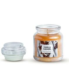 CLASSIC JAR SCENTED CANDLE YELLOW LARGE VANILLA CARAMEL AROMA Scented Candles, Candle Jars, Buy Candles, Beautiful Candles, Caramel, Vanilla, Fragrance, Perfume, Yellow