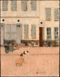 Two Dogs in a Deserted Street, Pierre Bonnard, c1894 - Pierre Bonnard - Wikipedia, the free encyclopedia