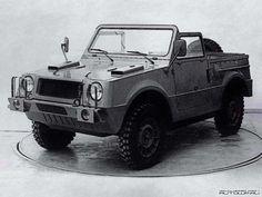 Soviet jeep, the Volzhsky (VAZ) 2122 Reka (River) Amphibian