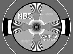 """An example of a """"test pattern"""" which would come on the television screen at night and indicated that the broadcast day was over. Back then, everything wasn't endless or electronic and it was a nicer way to live."""