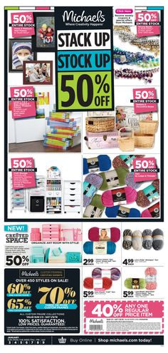 Michaels Weekly Ad January 3 - 9, 2016 - http://www.olcatalog.com/grocery/michaels-weekly-ad.html