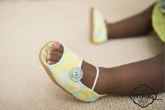 Peep- Toe Shoes - Green and Turquoise. Non-slip, suede soles and trendy fabric uppers, the perfect first shoe. Our fabric and trims are carefully selected, to create a shoe that is unique and truly special. Peep Toe Shoes, Summer Collection, Little Ones, Birkenstock, Baby Shoes, Summer Outfits, African, Turquoise, Create