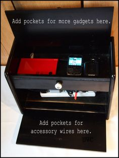 Until Wednesday Calls: How To: Turn a Bread Box into a Charging Station