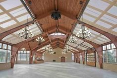 Indoor riding arena, beautiful. Little over the top though...