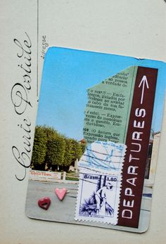 ATC Carte Postale Mail e selos antigos 80s