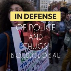 In Defense of Police and 'Thugs' | #BrandonLMaxwell explains, more on link #boldnews #bebold @boldglobalmedia @sheffieldcarrie