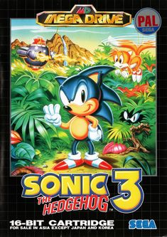 Sonic the Hedgehog 3 (Sega Genesis, for sale online Vintage Video Games, Classic Video Games, Retro Video Games, Video Game Art, Retro Games, Sega Video Games, Cartoon Video Games, Game Sonic, Sonic Art