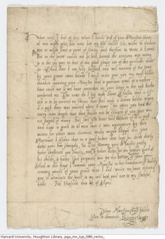 The future Queen Elizabeth, age 19, writes to her half-brother King Edward VI shortly before his death in 1553. The power struggle following the death of the 15-year-old King would lead to the 9-day reign of Lady Jane Grey and her eventual beheading.MS Typ 686Houghton Library, Harvard University