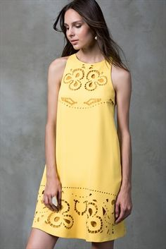 Cute Summer Dresses, Lovely Dresses, Cutwork Embroidery, Cool Outfits, Fashion Outfits, Embroidered Clothes, Couture Dresses, Lace Tops, The Dress