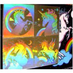 Hologram stickers... I had these unicorns :)