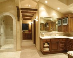 Tumbled Stone Backsplash Design, Pictures, Remodel, Decor and Ideas - page 20