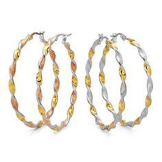 Multi Colored Spiraled Hoop Earrings - Save 84% Just $11.95
