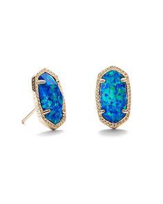 Kendra Scott Ellie Earrings in Royal Blue Opal