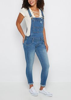 Distressed Vintage Jean Overall   rue21