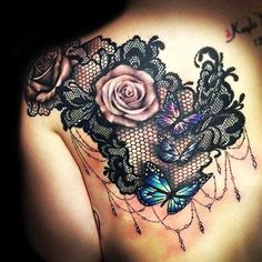 Lace tattoos designs and ideas rose