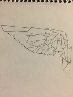 Geometric Wing tattoo design