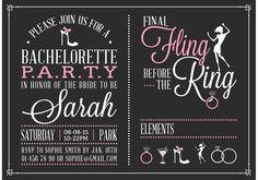Free Bachelorette Party Invitation Vector