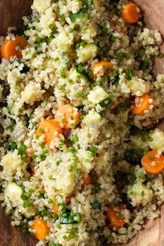 Quinoa with Vegetables and Herbs     Whether you serve this as a side dish or on its own for a light meal, quinoa is an excellent source of protein for vegetarians (and meat eaters!)