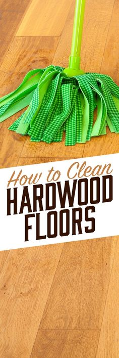 When cleaning hardwood floors, it's important to use a cleaner that  won't damage the finish or the surface of the wood. Simple Green  All-Purpose Cleaner is great for cleaning up spills and scuff marks, and  tackling dirty areas without degrading the finish of your wood flooring  like vinegar or other acidic chemicals. Plus, it's non-toxic and  biodegradable, a safer cleaning alternative for surfaces where children  and pets play.