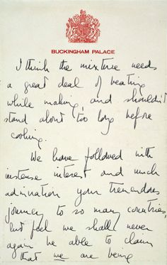 Queen Elizabeth shares a recipe with President Eisenhower, page 3 of 4 *the recipe itself must have been on a separate paper