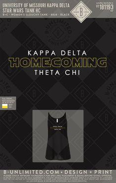 #greeklife #kappadelta #homecomingtank Kappa Delta, Social Events, Homecoming