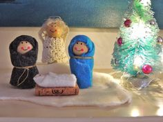 Come along as I downsize and decorate our little home in Maine.Join me in the craft room as I learn, create, sew, knit, and repurpose vintage finds. Christmas Nativity, Christmas Angels, Diy Christmas Gifts, Holiday Crafts, Christmas Crafts, Christmas Ornaments, Angel Ornaments, Snowman Ornaments, Christmas Tree
