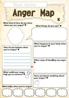 Anger Map- a fun tool to get to know a kid's triggers and what helps them calm down!