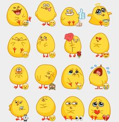 Chick Stickers Set | Telegram Stickers