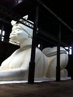Digital Atelier & Creative Time - Kara Walker EPS foam sculpture in Domino Sugar Refinery Kara Walker, Walker Art, Anish Kapoor, Sphinx, Canadian Art, Black Artists, Environmental Art, Press Photo, Art World