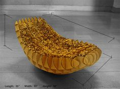 Cardboard banana chair.  One of the winners of a design contest by the AIAS and the ICPF  (just click the link)