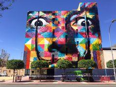 "Rapadura Cult: Street Art: Mural ""Dali"", do brasileiro eduardo Ko. Kobra Street Art, Grafitti Street, Art Mural, Mural Painting, Wall Art, Murals, Graffiti Artwork, Paintings, Salvador Dali"