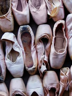Tattered and Torn...Makes me think of the dancers that wore these ballet shoes and consider the time and hard work it took to leave them in this condition.