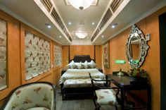 Like the Palace on Wheels, Royal Rajasthan on Wheels also covers the Delhi-Agra route and passes Jaipur, Jaisalmer, Jodhpur, Sawai Modhopur, Chittaurgarh, Udaipur, Bharatpur and Agra. This seven-night, eight-day journey includes various cultural performances including the Ghoomar Dance and the Chari Dance among other things. This luxury train has 13 deluxe saloons and two restro lounges.