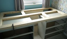 See how I turned my sons IKEA Malm drawers into a raised single bed. A great way of gaining extra storage underneath your bed. Cama Ikea, Ikea Bed, Diy Storage Bed, Extra Storage, Ikea Malm Drawers, Dresser Bed, Diy Bett, Kid Beds, My New Room