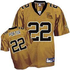Reebok New Orleans Saints Tracy Porter 22 Gold Authentic Jerseys Sale