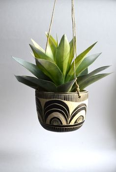 S C A L L O P || tribal ceramic hanging planter by mbundy on Etsy https://www.etsy.com/listing/225046212/s-c-a-l-l-o-p-tribal-ceramic-hanging