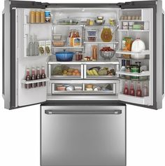 Charming CYE22TSHSS GE Cafe Series Energy Star 22.1 Cu. Ft. Counter Depth French . French  Door RefrigeratorCounter Depth ...