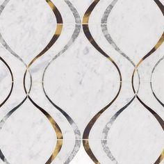 Viviano Marmo Medusa Bianco Carrara Mirror Water Jet Marble Mosaic - x - 100463504 Marble Mosaic, Marble Floor, Mosaic Tiles, Wall Tiles, Carrara Marble, Mosaic Wall, Marble Stones, Stone Tiles, The Marble