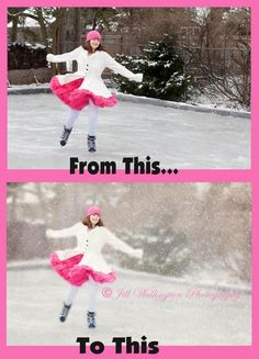 How to make winter portraits look pretty and dreamy.