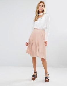 Fashion Union - Midi Skirt in Pleated Fabric | ASOS