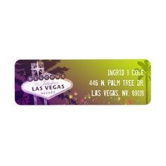 Starry Evening Las Vegas Wedding Label