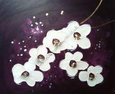 'Orchids - Plums/Purples' (L) 150 x 40 £145