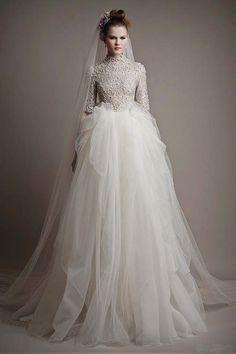 wedding veils spring 2015   2015 Spring wedding dresses collection by Ersa Atelier
